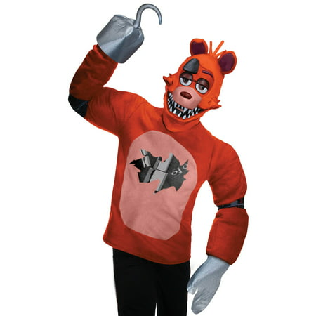 Five Nights at Freddy's Plush Foxy Costume for Adults](5 Nights At Freddy's Foxy Halloween Costume)
