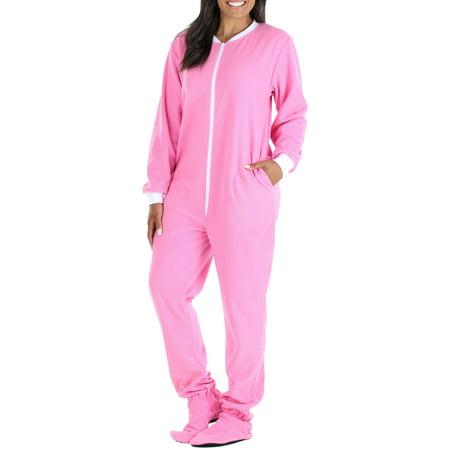 Cheap Adult Onesie (PajamaMania Women's Sleepwear Fleece Footed Onesie)