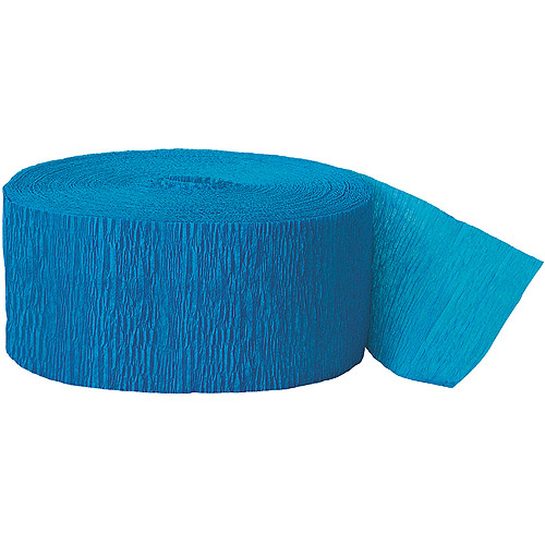 Turquoise Crepe Paper Streamers, 81ft