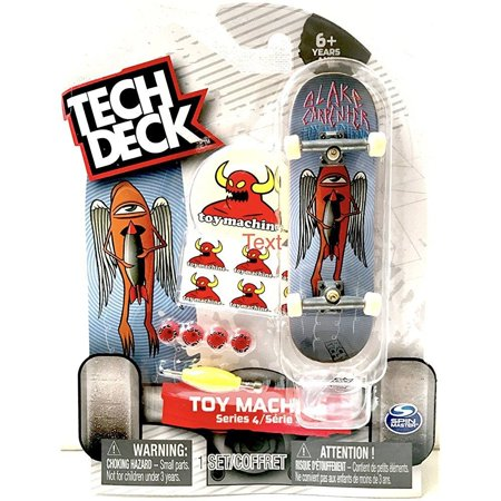Tech Deck Toy Machine Skateboards Series 4 Blake Carpenter with Stickers & Stand - Little Skateboard Toys
