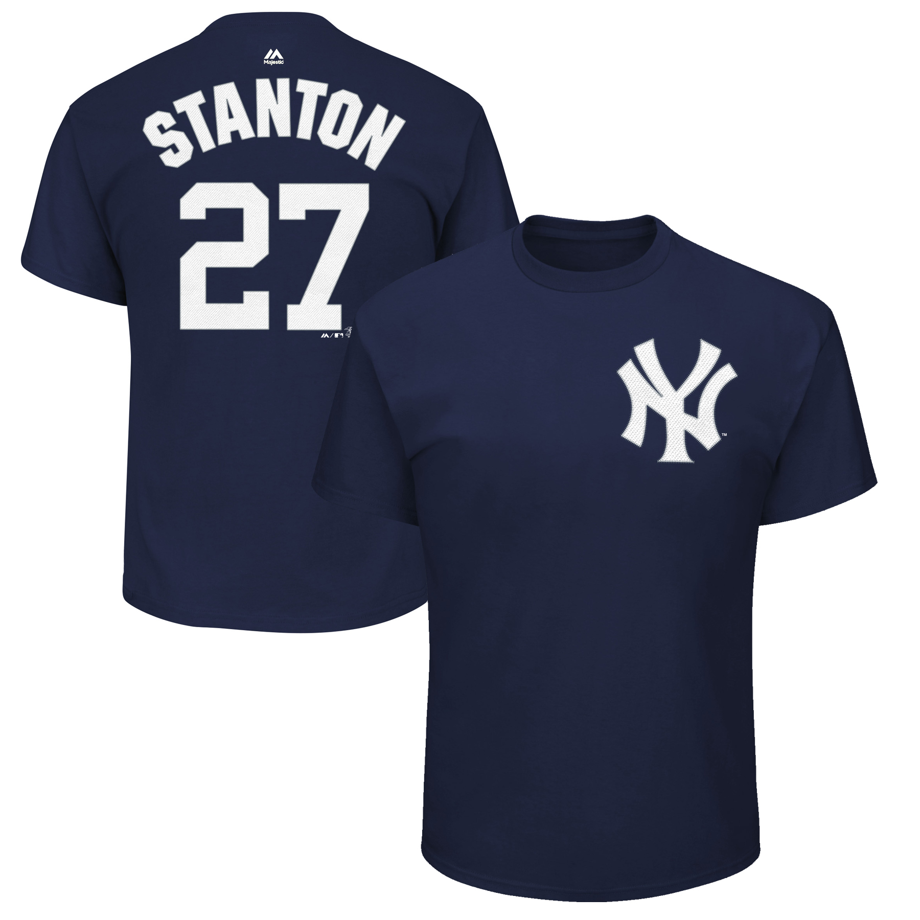 Giancarlo Stanton New York Yankees Majestic Youth Name & Number T-Shirt - Navy