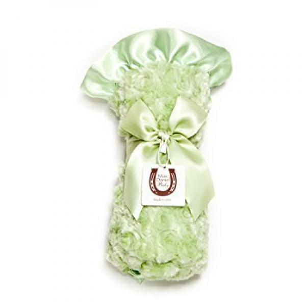 Max Daniel Baby Rosebuds and Satin Throw - Celery