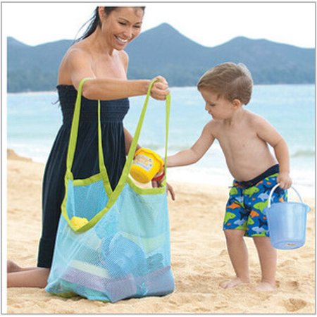 Durable Holding Toys Balls Beach Mesh Tote Bag, Beach Necessaries Children Toys Stay Away from Sand