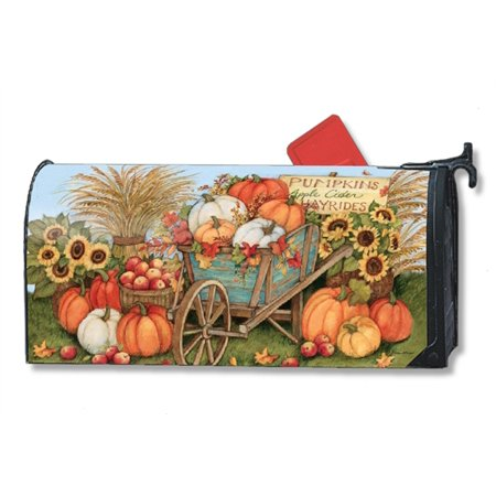 Magnet Works Pumpkin Wagon Magnetic Mailbox Wrap Cover
