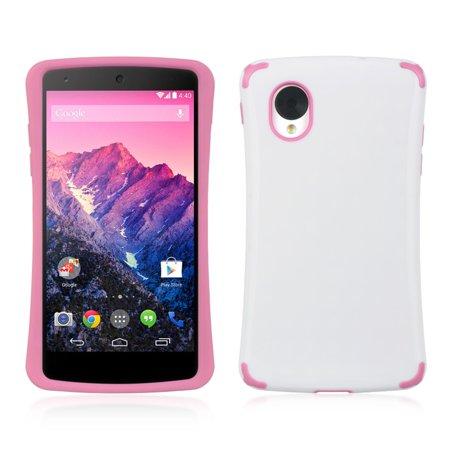 DreamWireless FTCLGGO5WT-HP LG Google Nexus 5 Fusion Case White With Hot Pink