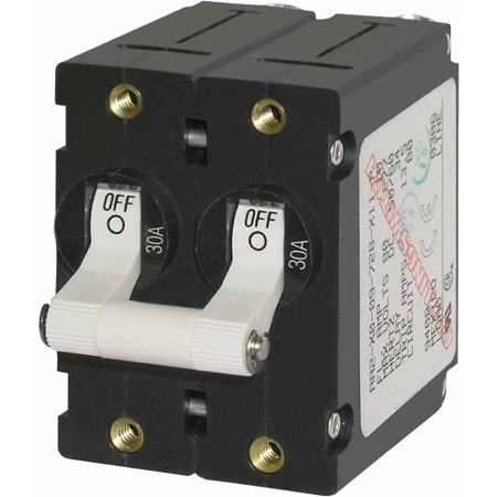 Blue Sea Systems A-Series DC Double Pole Toggle Circuit Breaker