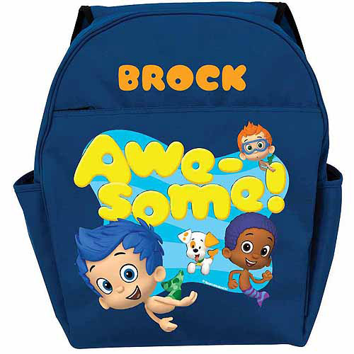 Personalized Bubble Guppies Guppy Boys Toddlers' Blue Backpack