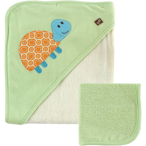 Hudson Baby Bamboo Hooded Towel and Washcloth, Boy, Choose Your Color by Hudson Baby