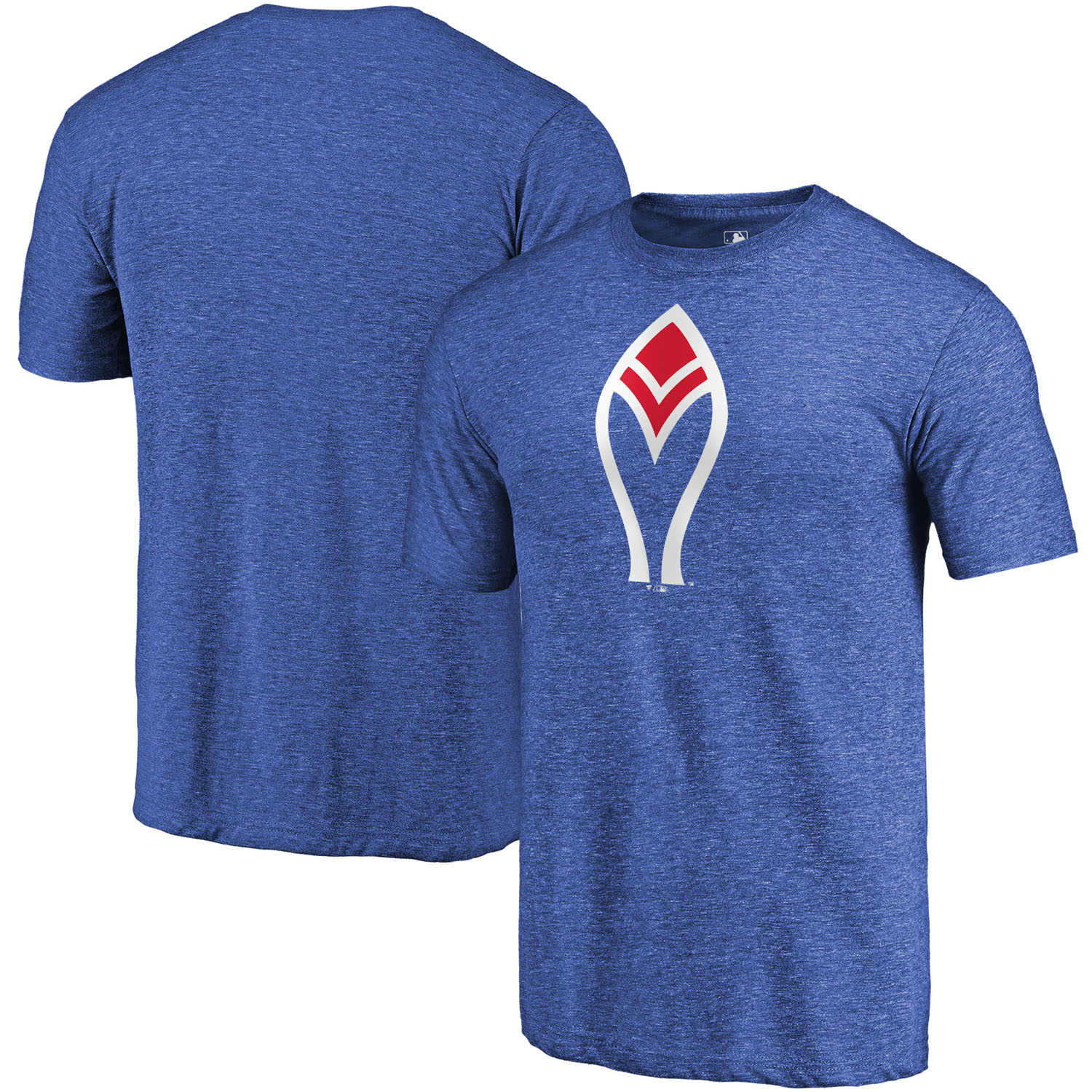 Atlanta Braves Fanatics Branded Cooperstown Collection Forbes Tri-Blend T-Shirt - Royal