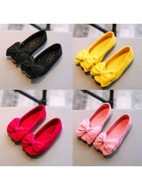 523e8fbb0f1c Product Image Kids Children Baby Girls Bowknot Princess Shoes Flats Causal  Dress Party Shoes