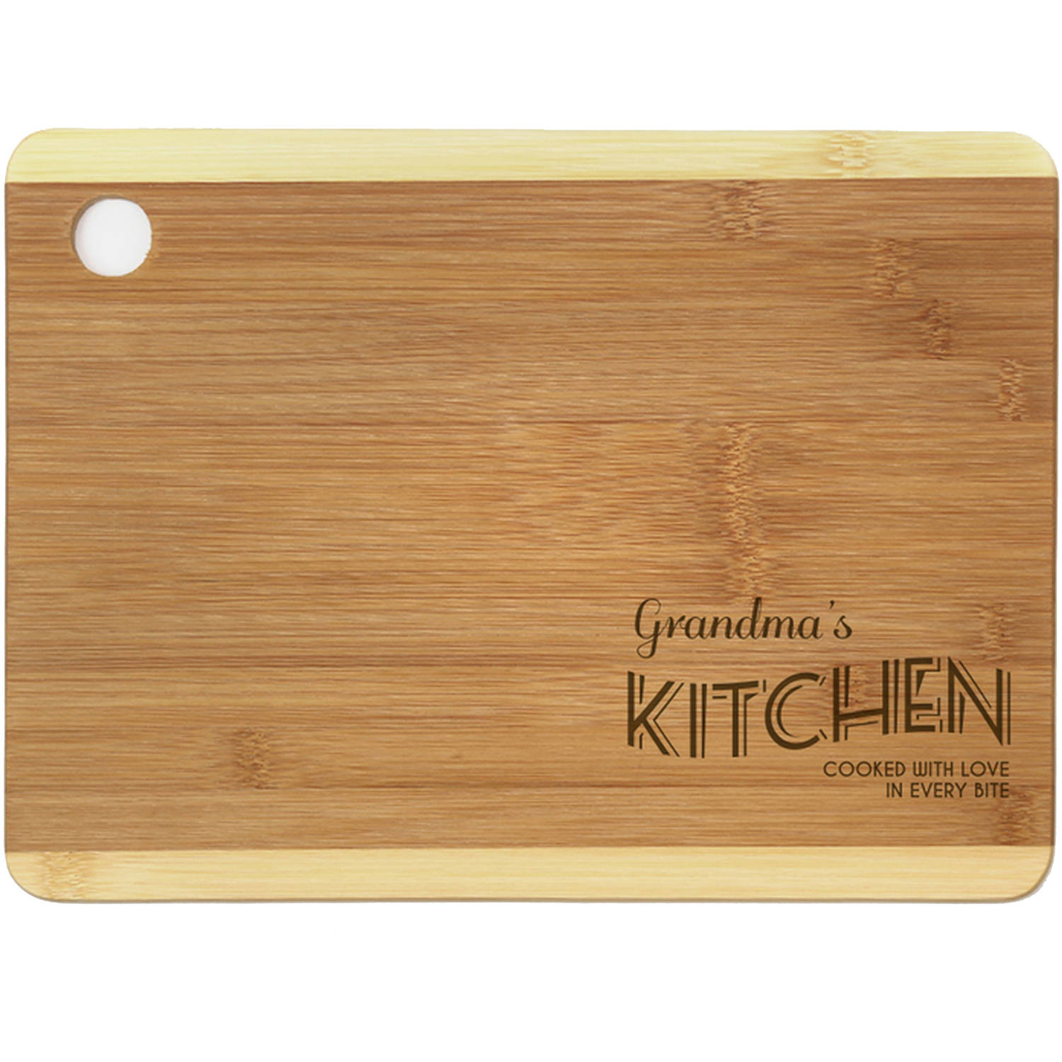 "Personalized Cooked with Love Cutting Board, Sizes 12.5"" x 11.5"" and 12.5"" x 13.75"""