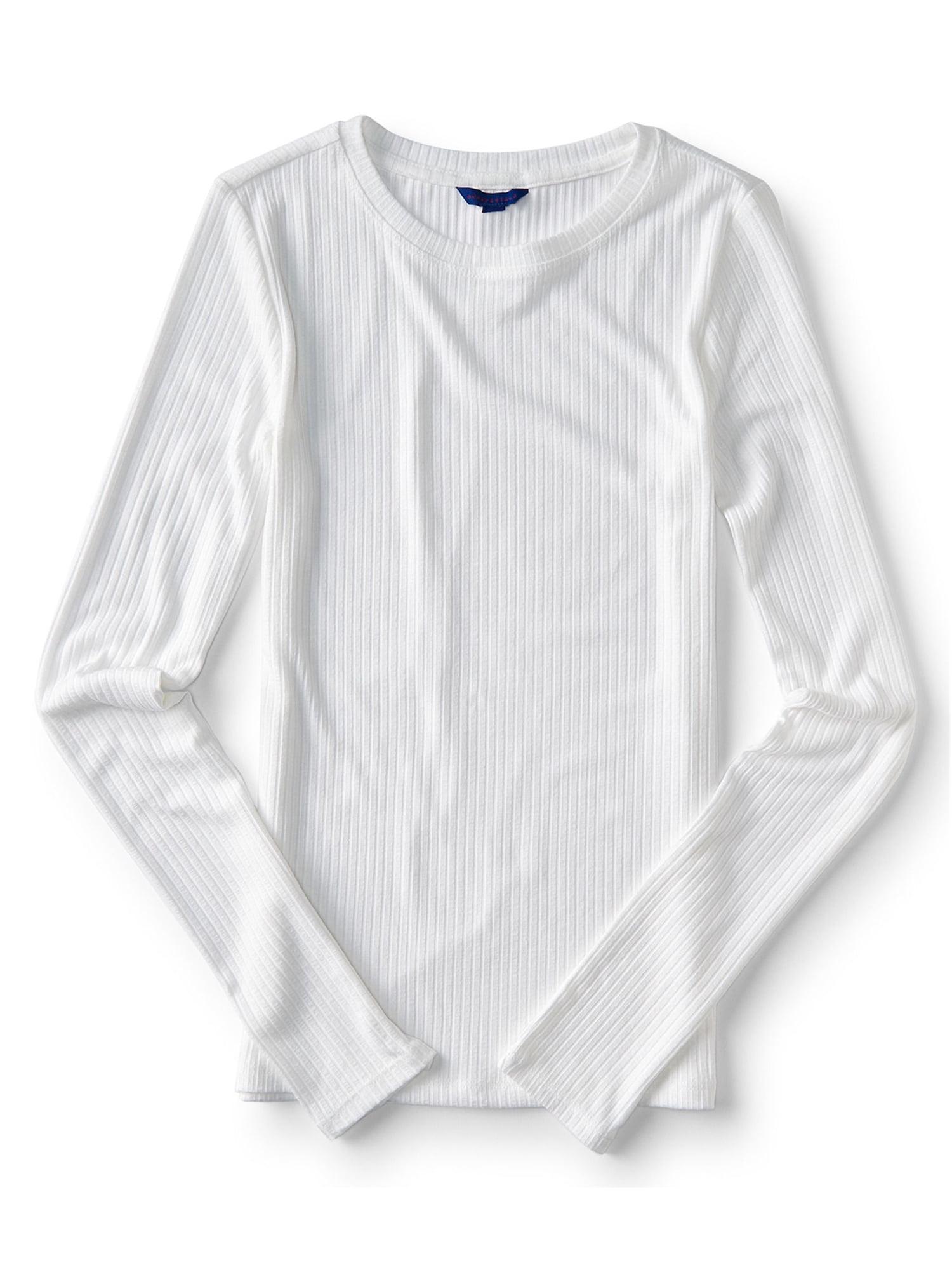 4a8fcbe0 Aeropostale Juniors Seriously Soft Ribbed Basic T-Shirt 102 Xl - Juniors