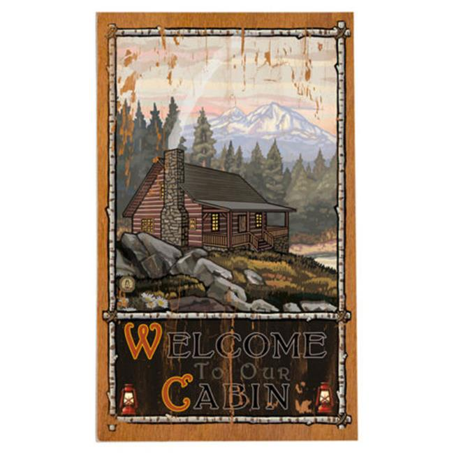 14 x 23 in. Cabin in the Woods Planked Wood Wall Decor by Northwest Art Mall - image 1 de 1