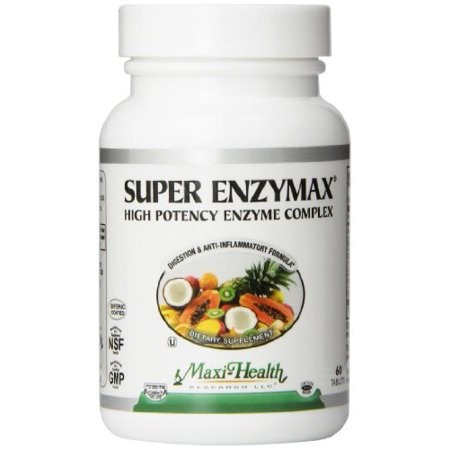 Maxi Santé super Enzymax - Suractivé complexe enzyme - Formule Digestion - 60 comprimés - casher par Maxi - Santé