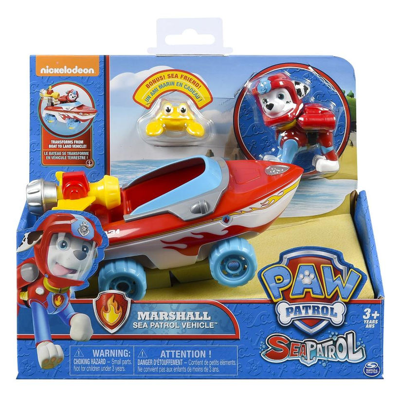 Paw Patrol Sea Patrol – Marshall's Transforming Sea Patrol Vehicle with Bonus Sea Friend