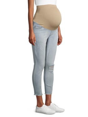 Maternity Alivia Ford Skinny Jean with Frayed Hem and Full Panel (Available in Multiple Colors)