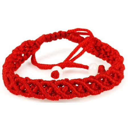 LUOS handmade red string bracelet anklet – wealth Goodluck prosperity protection women men kids – st003 … (String Bracelet)