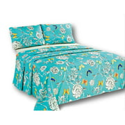 Butterfly Wonderland 1000 Thread Count Flat Sheet Set by Tache Home Fashion