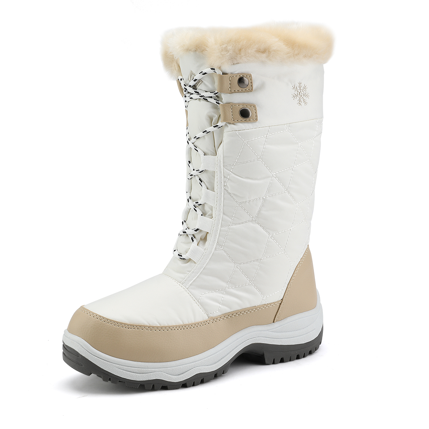 DREAM PAIRS Kids Faux Fur Lined Mid Calf Winter Snow Boots