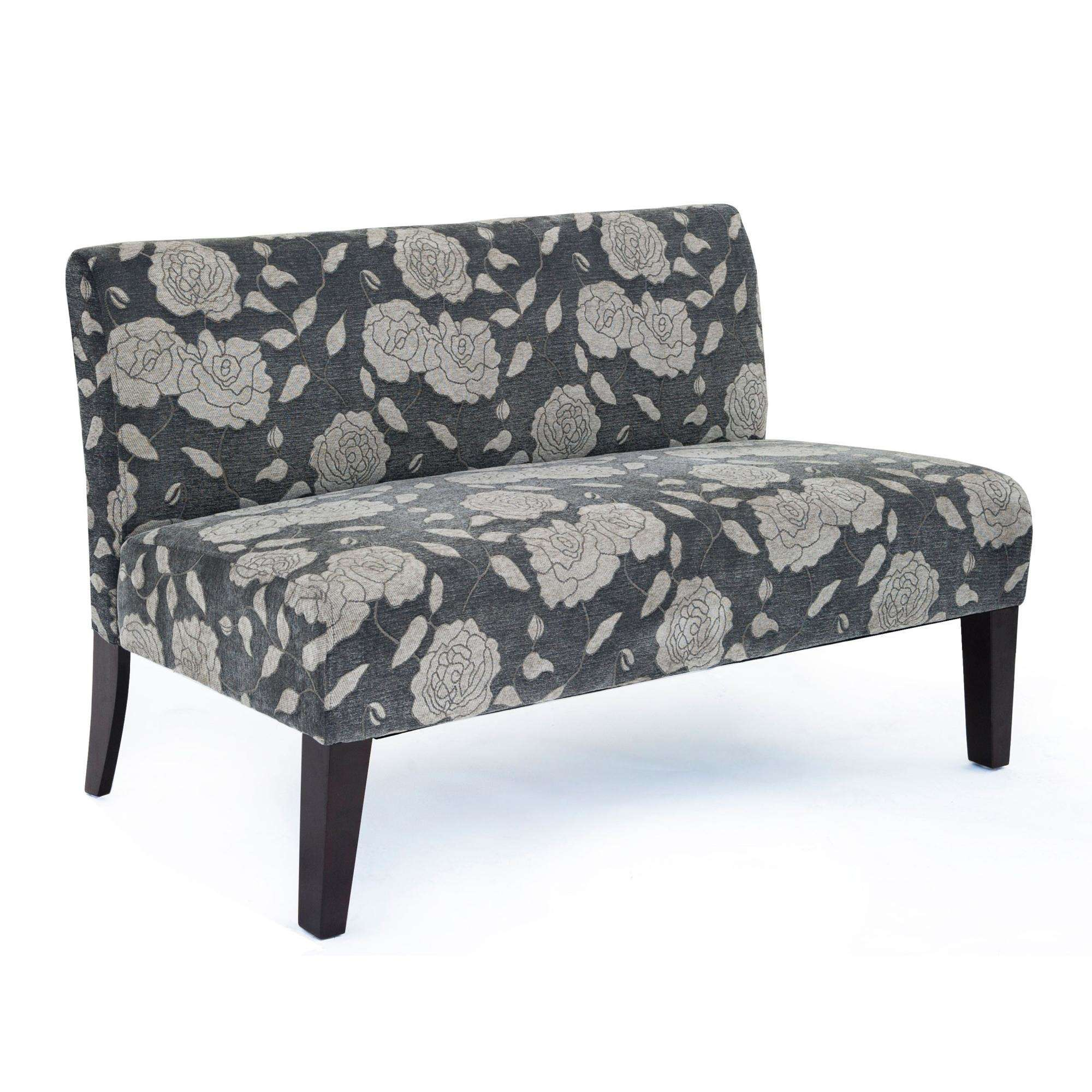 "DHI 47"" Rose Deco Upholstered Loveseat, Multiple Colors"