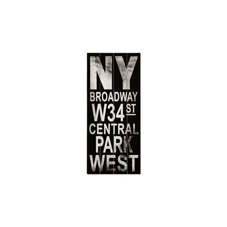 Artehouse LLC Ny Broadway Transit by Cory Steffen Textual Art Plaque