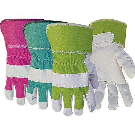 Pigskin Grain - 743 Large Women's Grain Pigskin Leather Palm Safety Cuff Gloves
