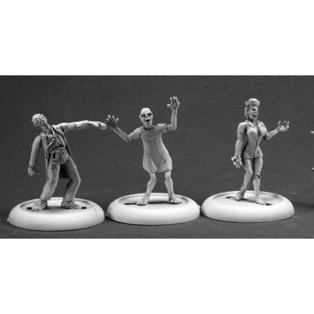 Reaper Miniatures Zombies: Doctor Nurse and Patient #50266 Chronoscope Figure - Zombie Docter
