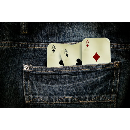 LAMINATED POSTER Playing Cards Play Cross Ace Red Jeans Gambling Poster Print 24 x 36