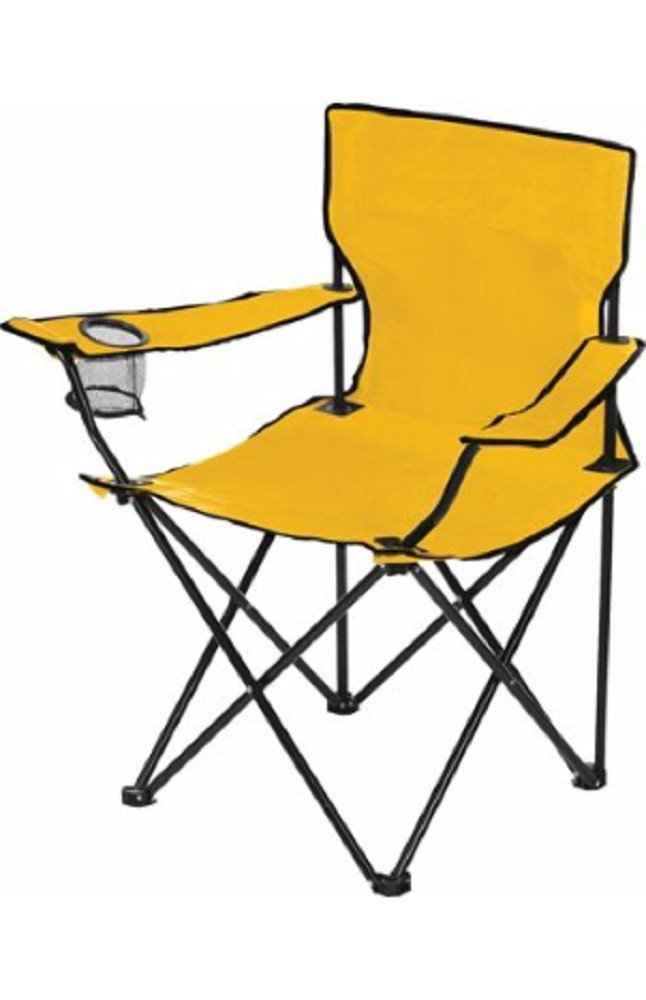 Dick's Sporting Goods Logo Chair - Great for Camping, Back Yard, Sporting  Events (Gold), VERSATILE - Sturdy canvas folding chair for camping, ...