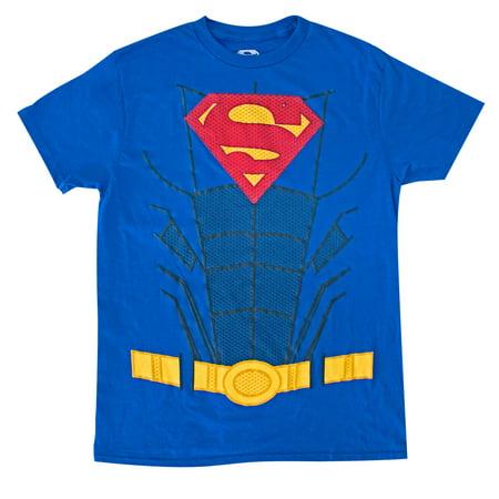 Superman Suit Up Blue Costume Tee Shirt (Superman Suit)