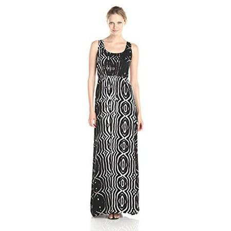 BB Dakota Women's Karlene Painted Warrior Maxi Dress, Black, Small](Warrior Dress Up)
