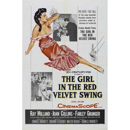 The Girl in the Red Velvet Swing Movie Poster Print (27 x (The Girl In The Red Velvet Swing 1955)