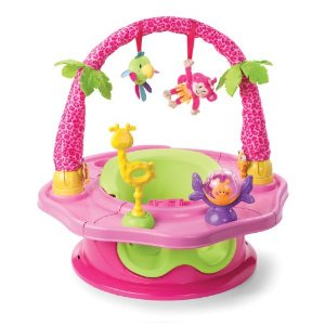 Cranium Giggle Gear - Summer Infant 3-Stage SuperSeat Deluxe Giggles Island: Positioner, Activity Seat, and Booster, Girl