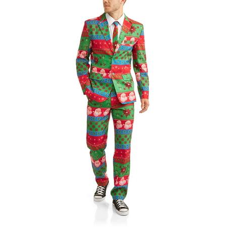 d3dd5ff1a5cc6b Greensource - Men's Christmas Not So Suit Suit 3 Piece Suit, up to size 2XL  - Walmart.com