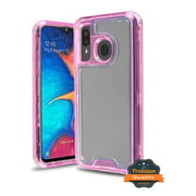 Samsung Galaxy A50 Phone Case Hybrid Full-Body Shockproof Frame Bumper Hard PC & Soft TPU Rubber Silicone 3 Layers Protective Case PINK Transparent Cover for Samsung Galaxy A50 /A505