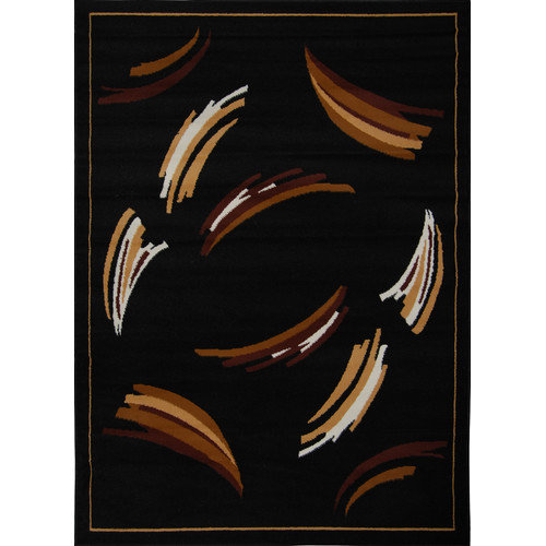 Home Dynamix Zone Black Area Rug