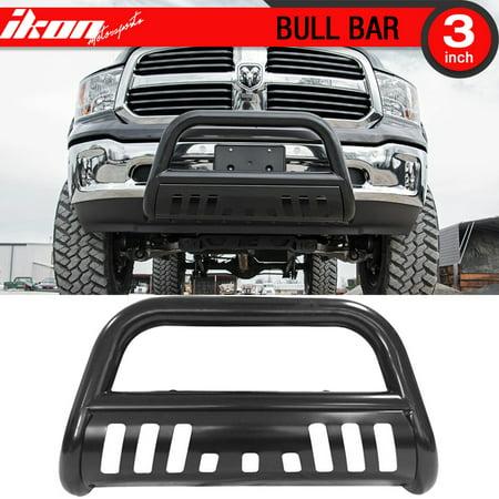 Fits 09-17 Dodge Ram 1500 Pickup Black Steel Bull Bar Front Bumper Grill Guard