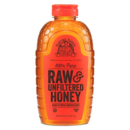 Nature Nate's Honey, 100% Pure, Raw & Unfiltered, Non-GMO, 32 Oz - Hot Rod Honey
