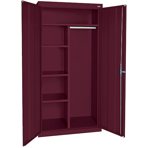 """Elite Series Combination Cabinet with Adjustable Shelves, 36""""W x 18""""D x 72""""H, Burgundy"""