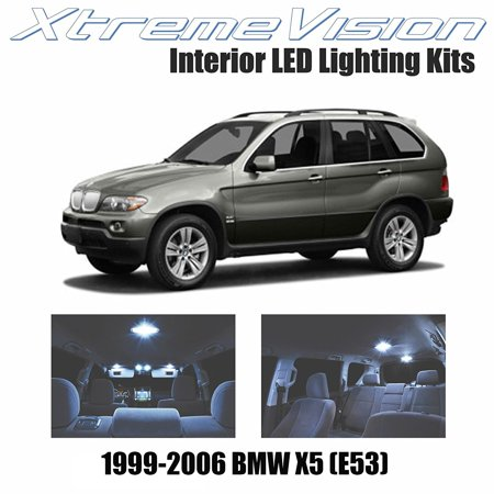 XtremeVision LED for BMW X5 (E53) 1999-2006 (16 Pieces) Cool White Premium Interior LED Kit Package + Installation Tool ()