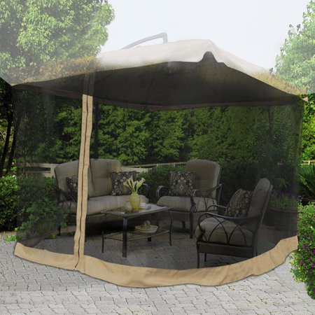 Yescom 9ft Umbrella Mosquito Net Outdoor Patio Mesh Screen Anti Insect Fly Tent Netting