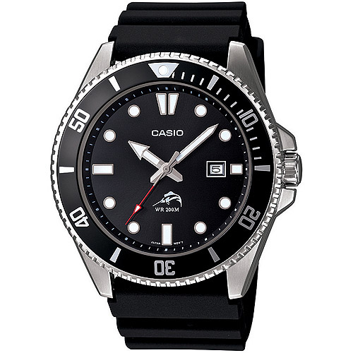 Casio Men's Dive-Style Watch, Black Resin Strap