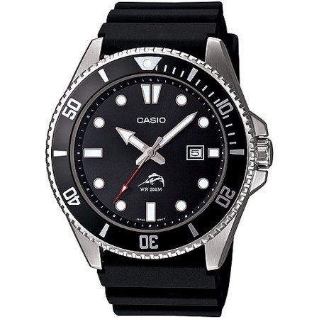 Casio Men's Black Dive-Style Sport Watch