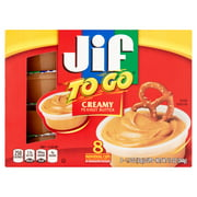 (3 Pack) Jif To Go Creamy Peanut Butter, 1.5 oz cups