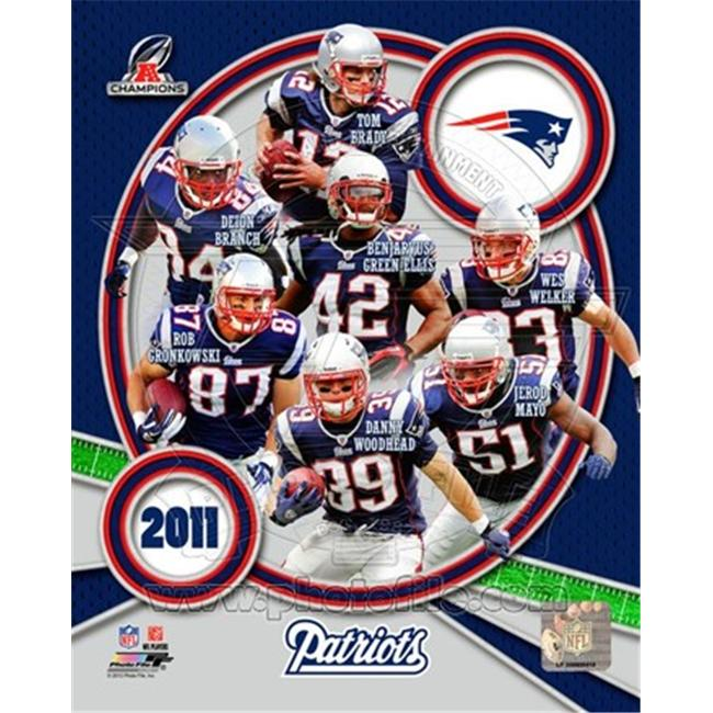 Photofile PFSAAOL08801 New England Patriots 2011 AFC Champions Team Composite Poster by Unknown -8. 00 x 10. 00