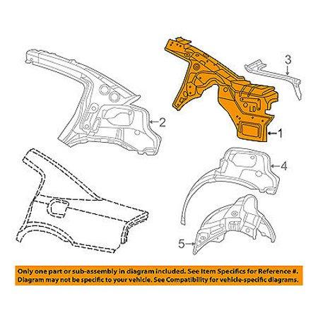Dodge CHRYSLER OEM 11-14 Charger Rear Quarter Panel-Inner Panel Right 68096296AJ