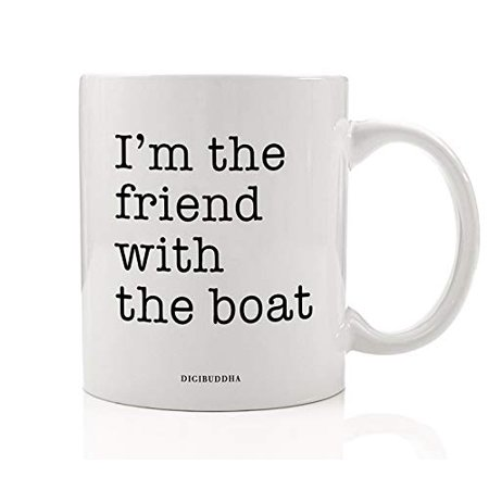 Under The Sea Quinceanera Ideas (Fun Boating Coffee Mug Gift Idea I'm the Friend With the Boat Sea Captain Who Loves to Sail Fish & Ride the Waves Present for Sailing Friend Family Job Coworker)