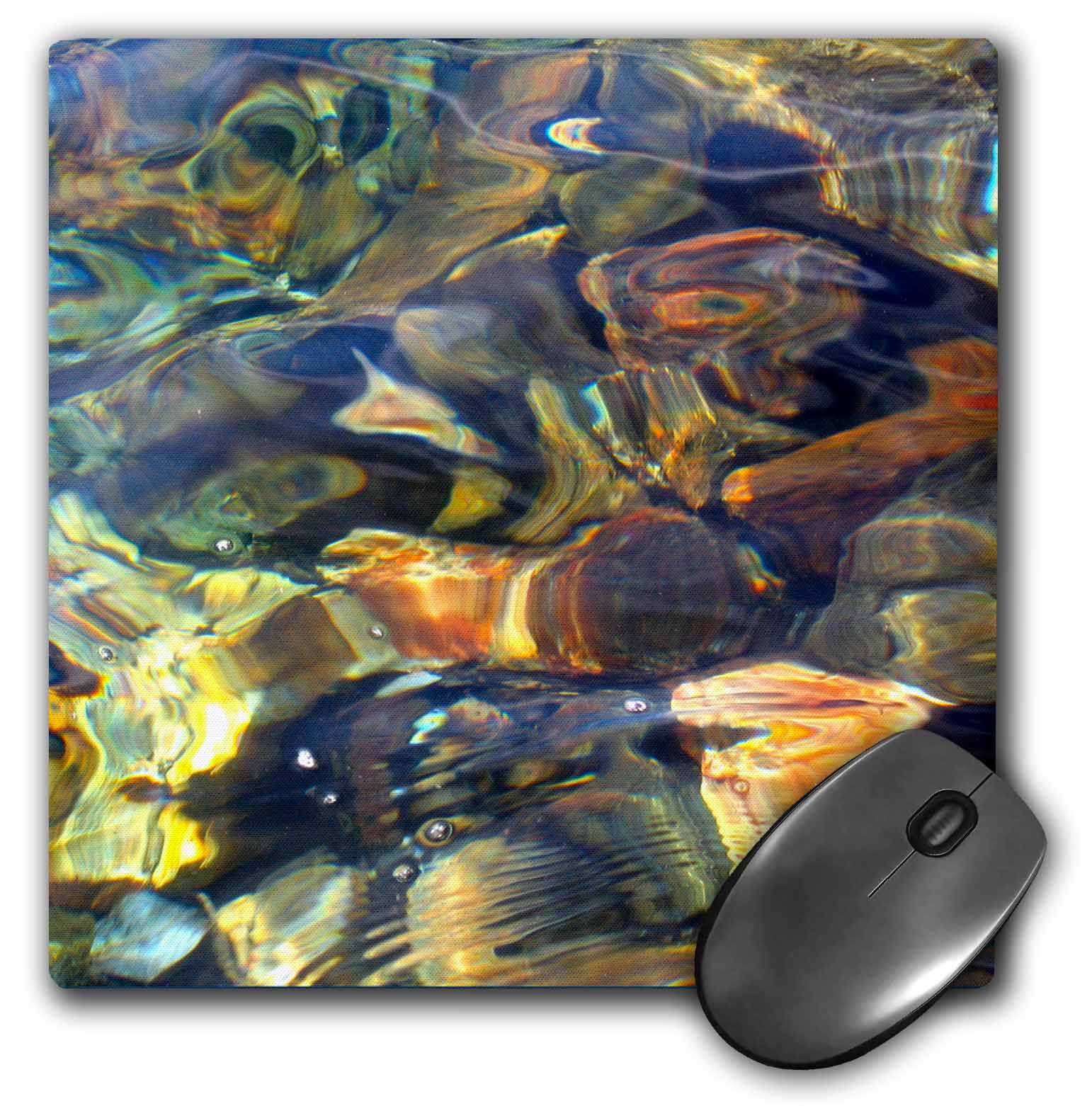 3dRose Lake Rocks, Mouse Pad, 8 by 8 inches