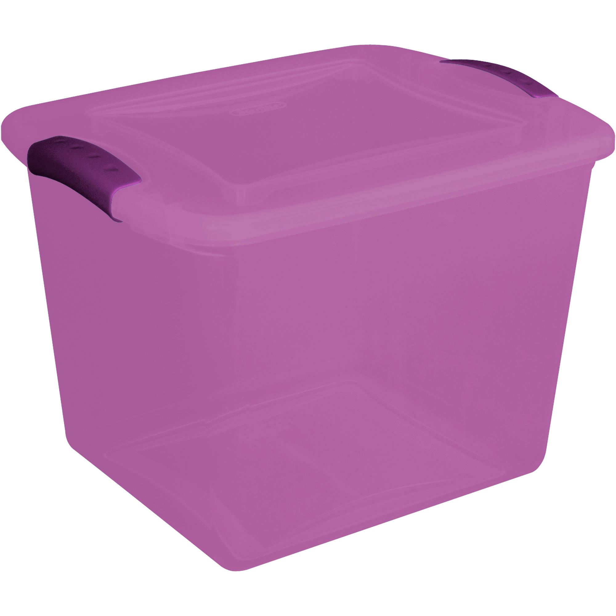 Sterilite 6.75-Gallon (27-Quart) Latch Storage Box, Purple, Set of 10