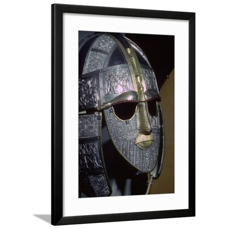 Sutton Hoo Helmet (reconstruction). Artist: Unknown Framed Print Wall Art